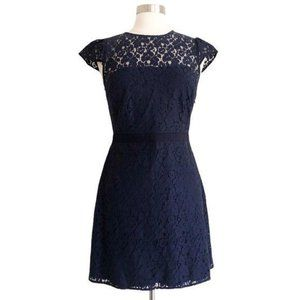 Likely Normandie Navy Floral Lace Dress Sz 6